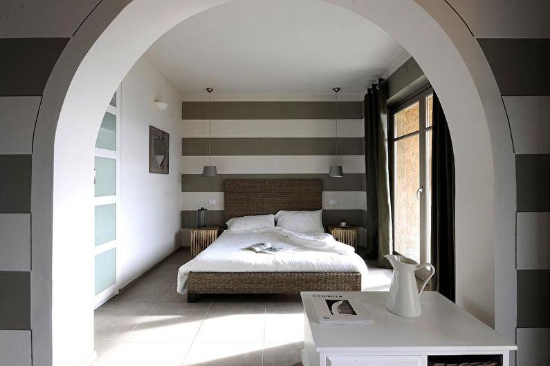Арка из гипсокартона в интерьере спальни