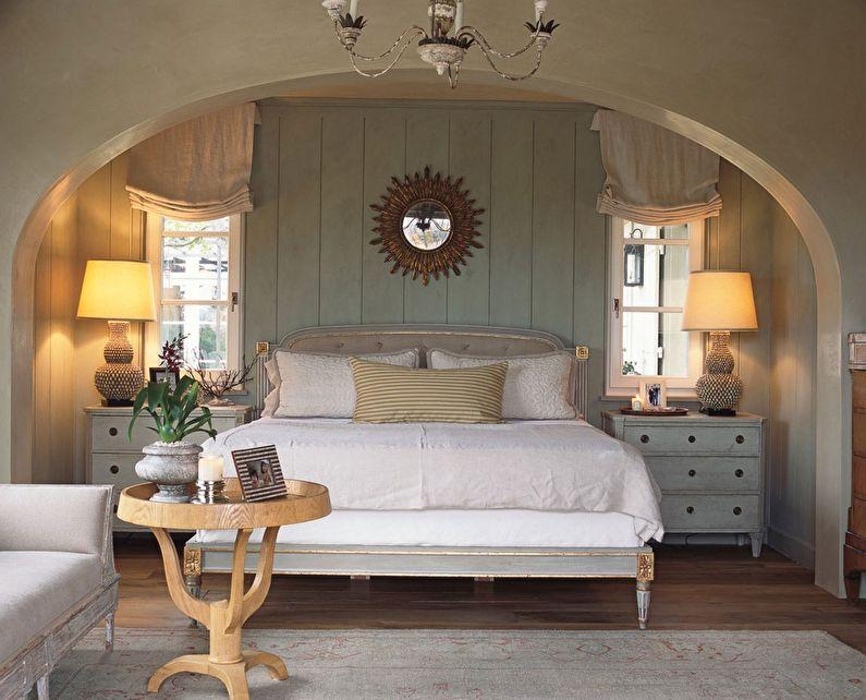 Арка из гипсокартона в спальне - дизайн