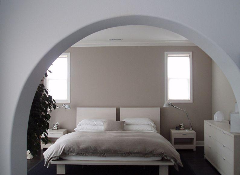 Межкомнатная арка из гипсокартона в спальне - дизайн