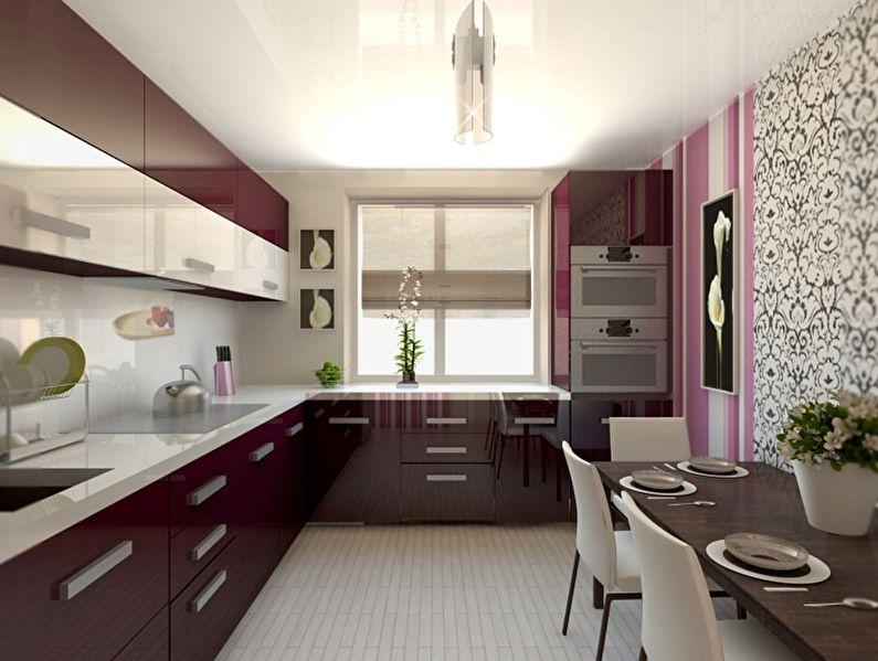 Обои для кухни в стиле ар-деко - дизайн фото