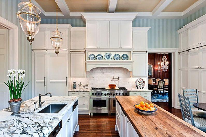 Обои для кухни в стиле кантри - дизайн фото