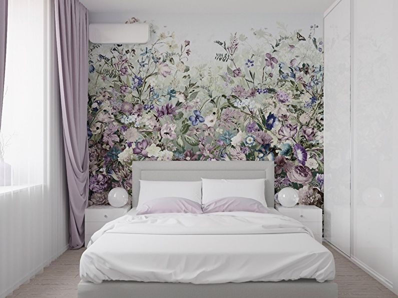 Дизайн маленькой спальни в современном стиле - фото