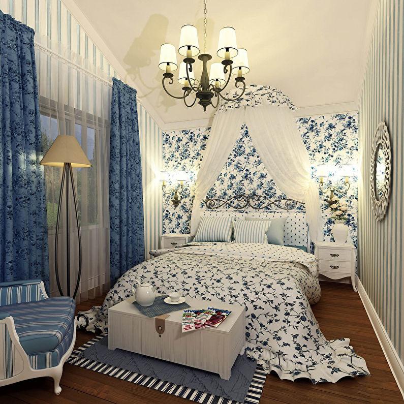 Дизайн маленькой спальни в стиле прованс - фото