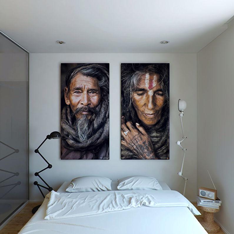 Дизайн маленькой спальни в стиле минимализм - фото