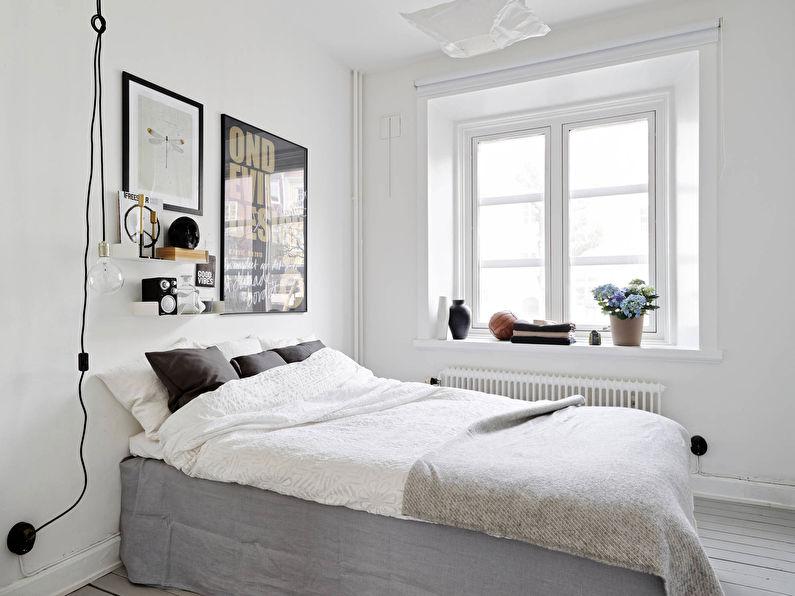 Дизайн маленькой спальни в скандинавском стиле - фото