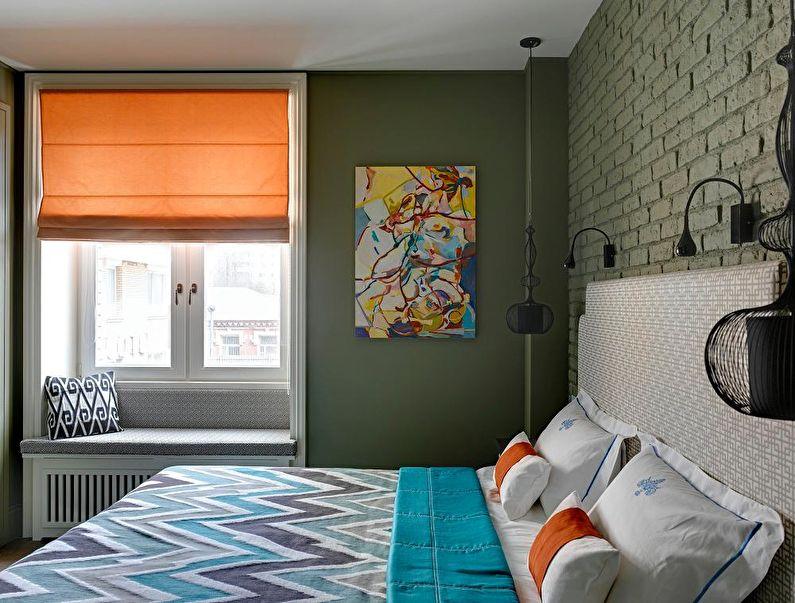 Текстиль для маленькой спальни - фото