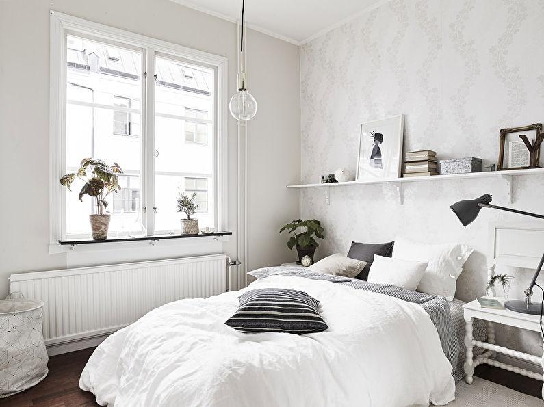 Расстановка мебели в маленькой квадратной спальне - фото