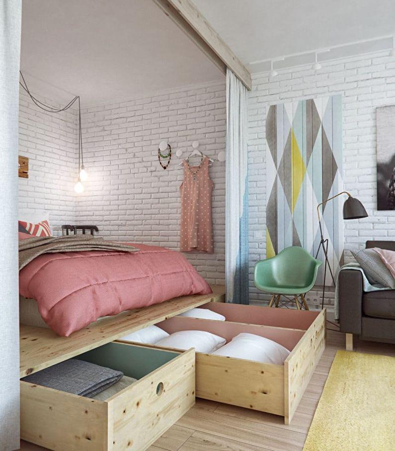 Дизайн маленькой спальни в хрущевке - фото