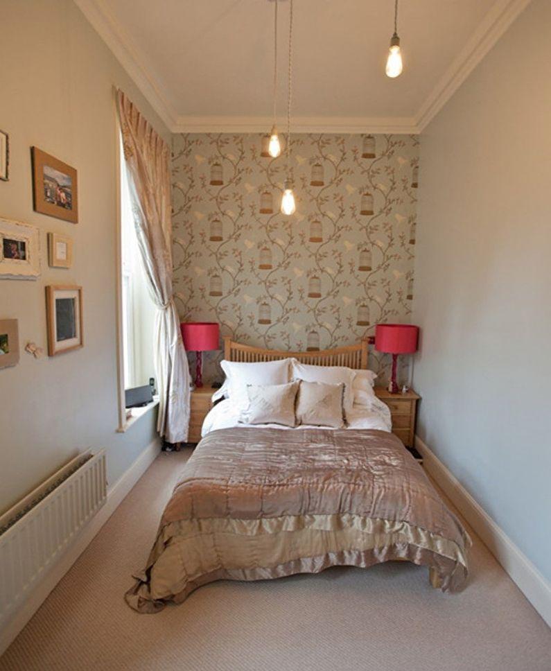 Дизайн маленькой спальни 7-8 кв.м. - фото