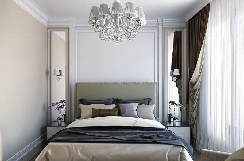 Дизайн маленькой спальни 10-11 кв.м. - фото