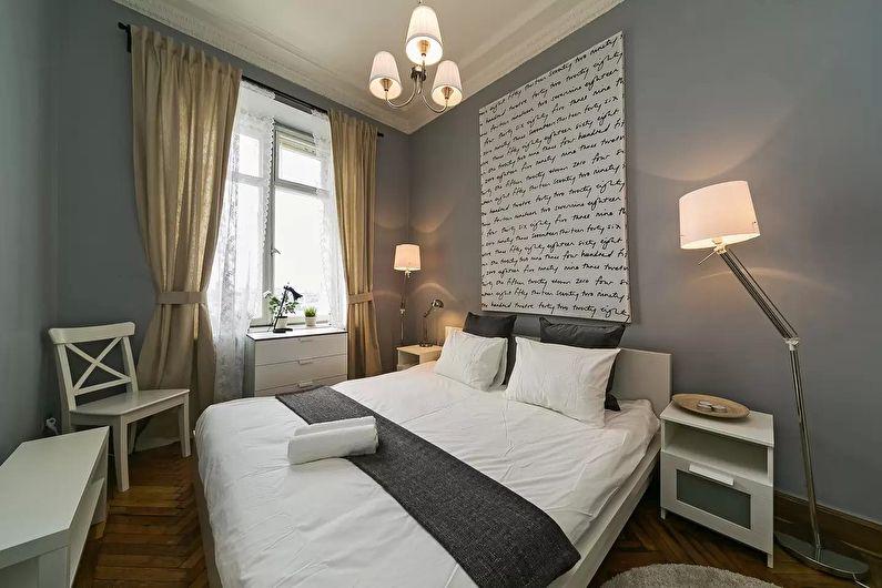 Дизайн маленькой спальни 12 кв.м. - фото