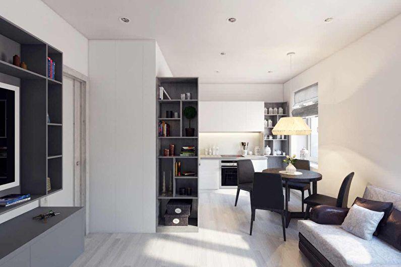 Объединение кухни и гостиной в двухкомнатной хрущевке
