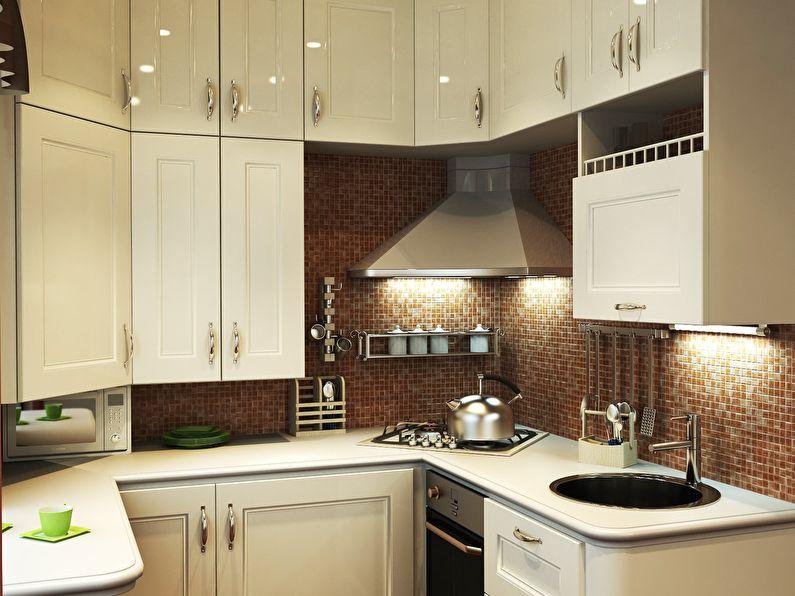 Дизайн кухни в хрущевке - классический стиль интерьера