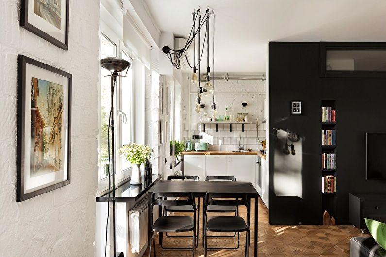 Дизайн кухни в хрущевке - скандинавский стиль