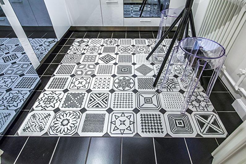 Плиточный пол на кухне в хрущевке