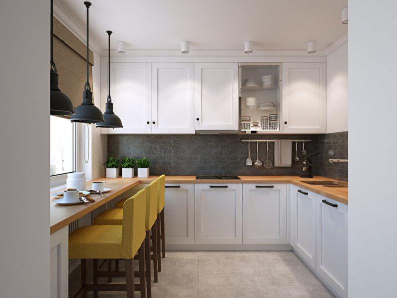 Обеденная зона - дизайн кухни в хрущевке