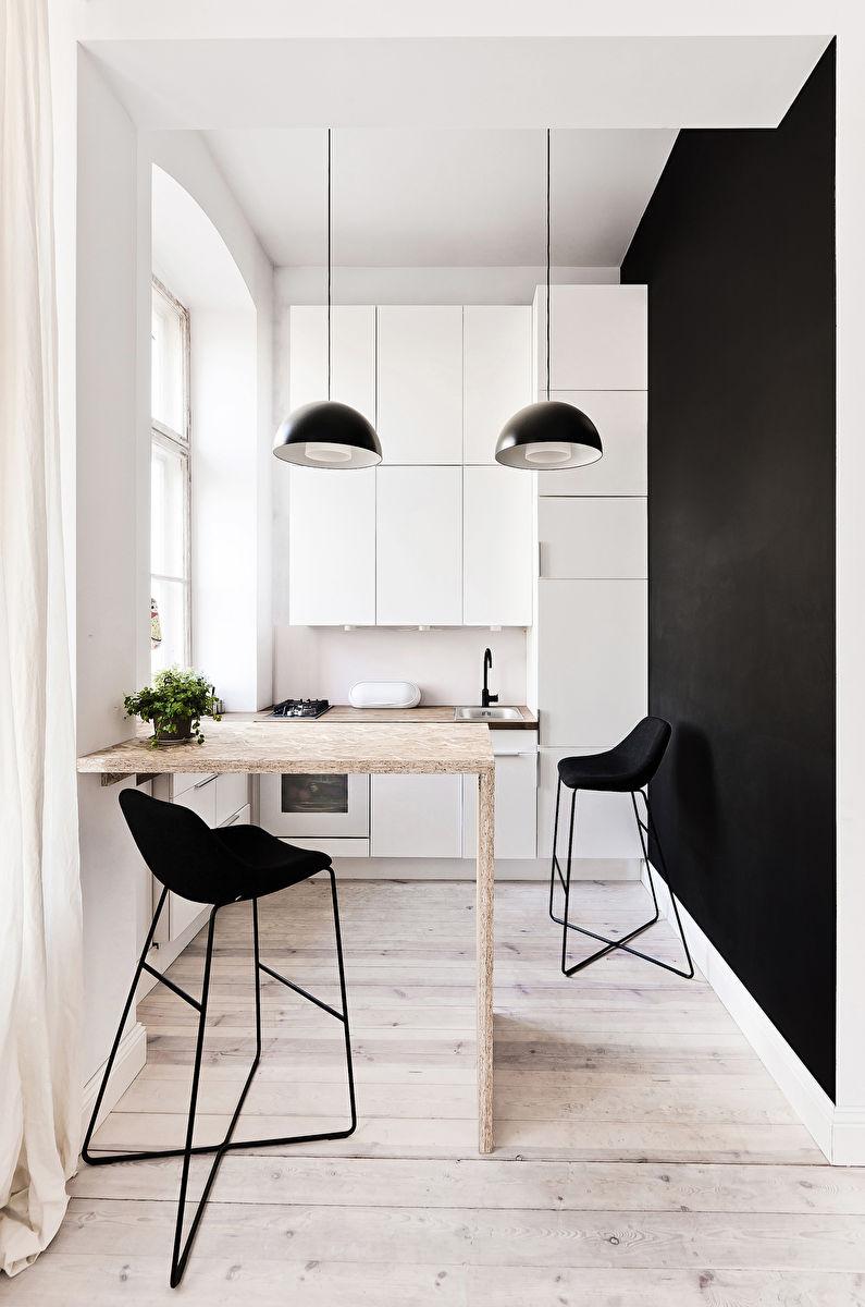 Барная стойка - дизайн кухни в хрущевке