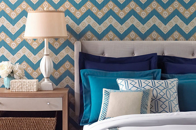 Обои для спальни: 65 красивых идей