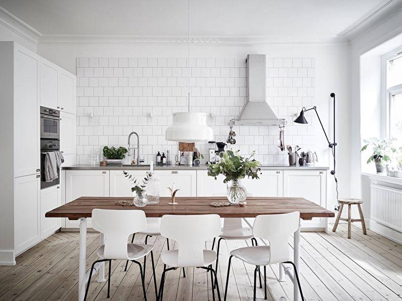 дизайн кухни в скандинавском стиле 80 фото идеи интерьеров