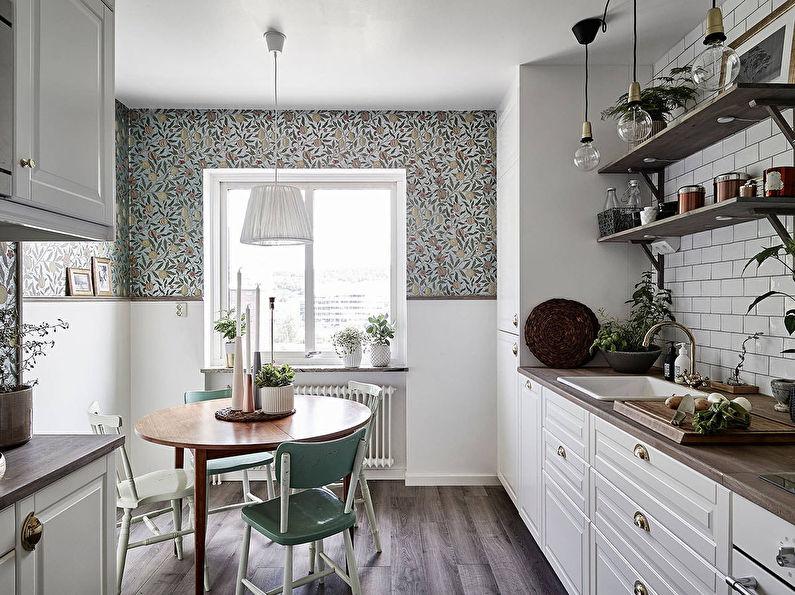 Как выбрать обои для кухни: 70 фото и идей