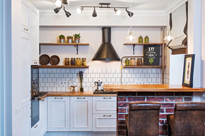 Идеи дизайна маленькой кухни в хрущевке (65 фото)