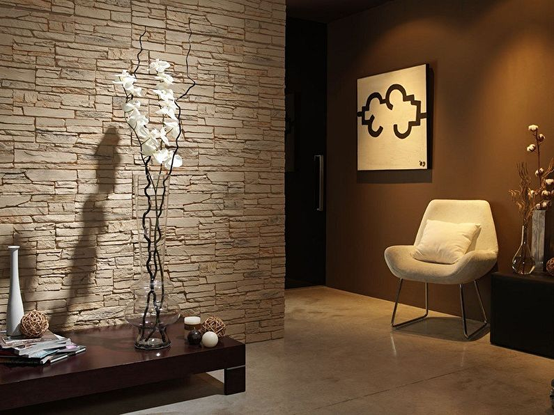 Декоративный камень в интерьере (100 фото)