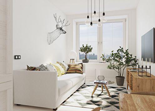 Интерьер малогабаритной квартиры 30 м2 от CubiqStudio