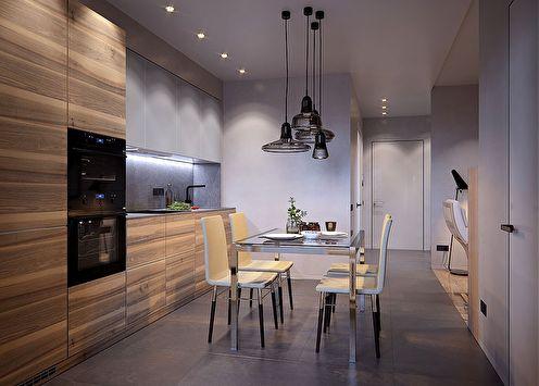 Дизайн интерьера квартиры 50 кв.м. в ЖК «Риверсайд»