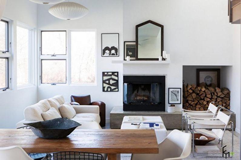 Дизайн гостиной в скандинавском стиле - Особенности