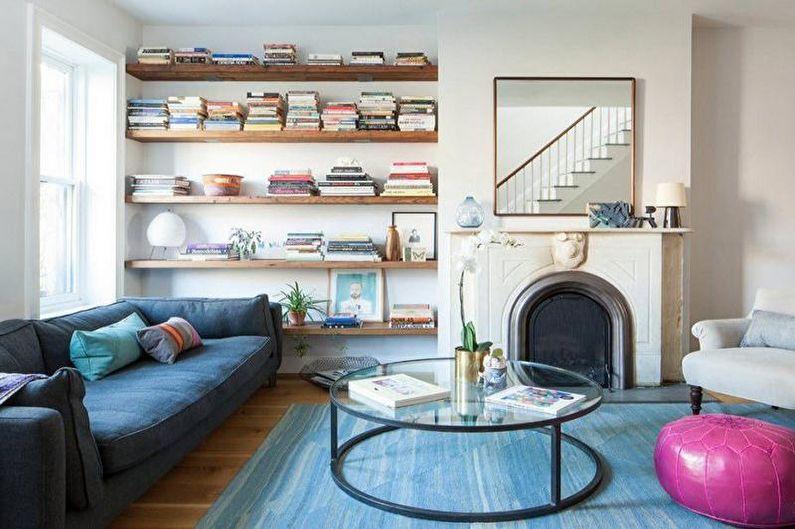 Дизайн гостиной в скандинавском стиле - Мебель