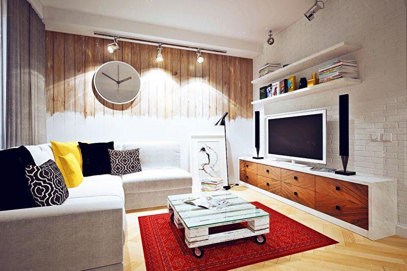 Маленькая гостиная в скандинавском стиле - Дизайн интерьера