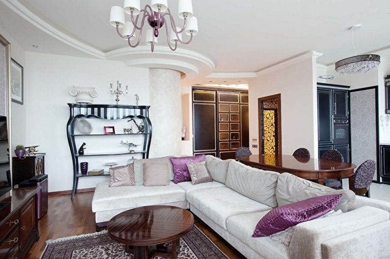Сиреневый цвет мебели в интерьере