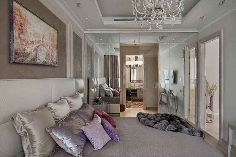 Сиреневый цвет в интерьере спальни - Дизайн фото