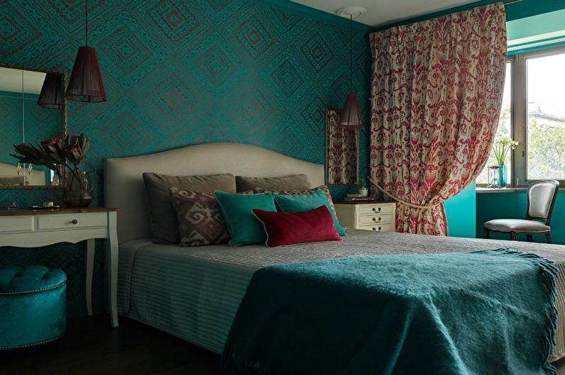 Сочетание цветов в интерьере спальни - Контраст