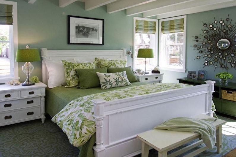 Сочетание цветов в интерьере спальни - Смешанное сочетание