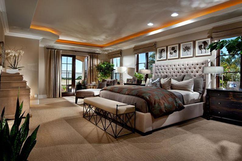 Уютные сочетания цветов в интерьере спальни