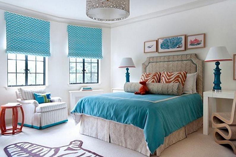 Оригинальные сочетания цветов в интерьере спальни