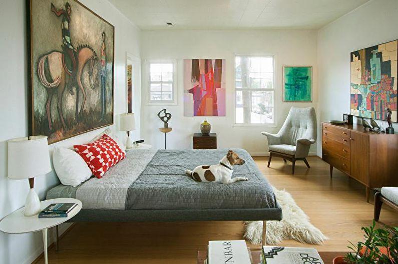 Спальня в ретро стиле - Сочетание цветов в интерьере спальни