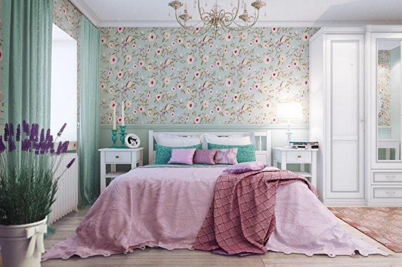 Спальня в стиле кантри - Сочетание цветов в интерьере спальни