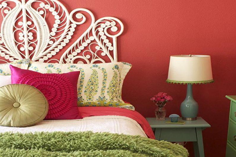 Сочетание цветов в интерьере спальни - фото