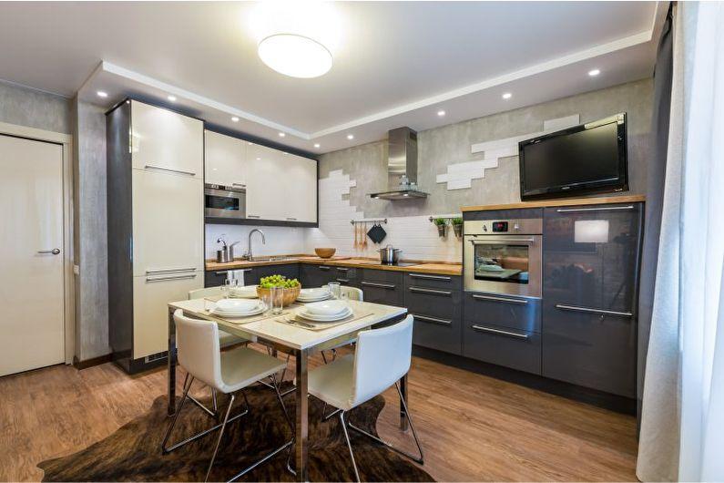 Кухня 20 кв.м. в современном стиле - Дизайн интерьера