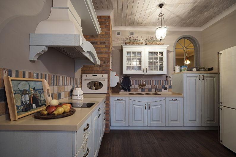 Кухня 20 кв.м. в стиле кантри - Дизайн интерьера