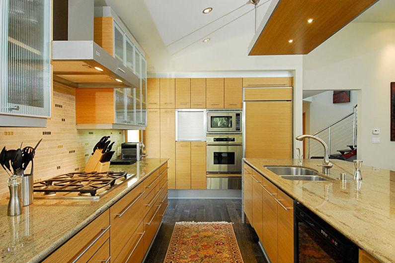 Желтая кухня 20 кв.м. - Дизайн интерьера