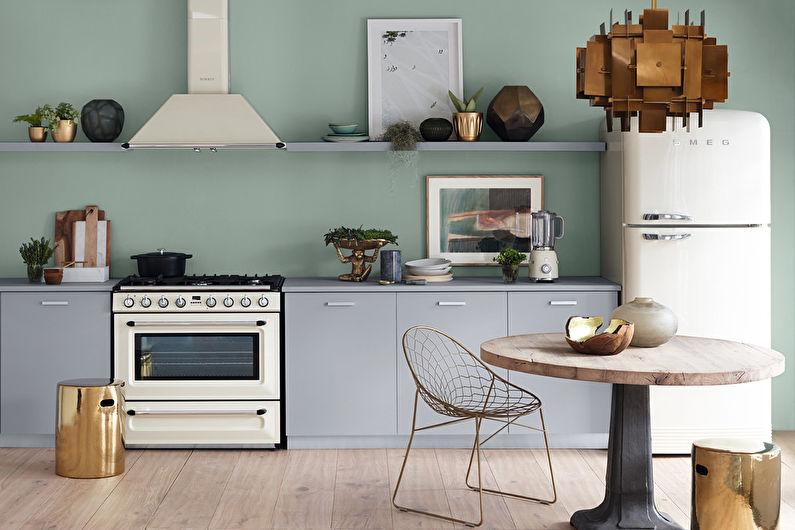 Серая кухня 20 кв.м. - Дизайн интерьера