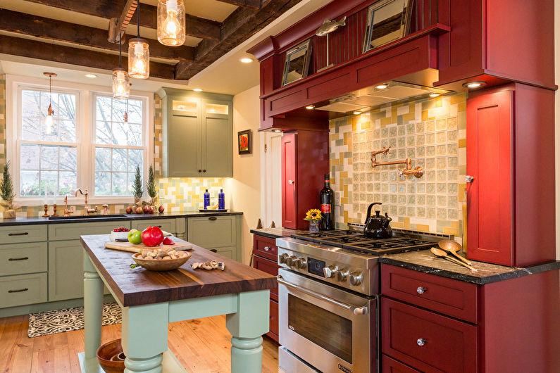 Красная кухня 20 кв.м. - Дизайн интерьера