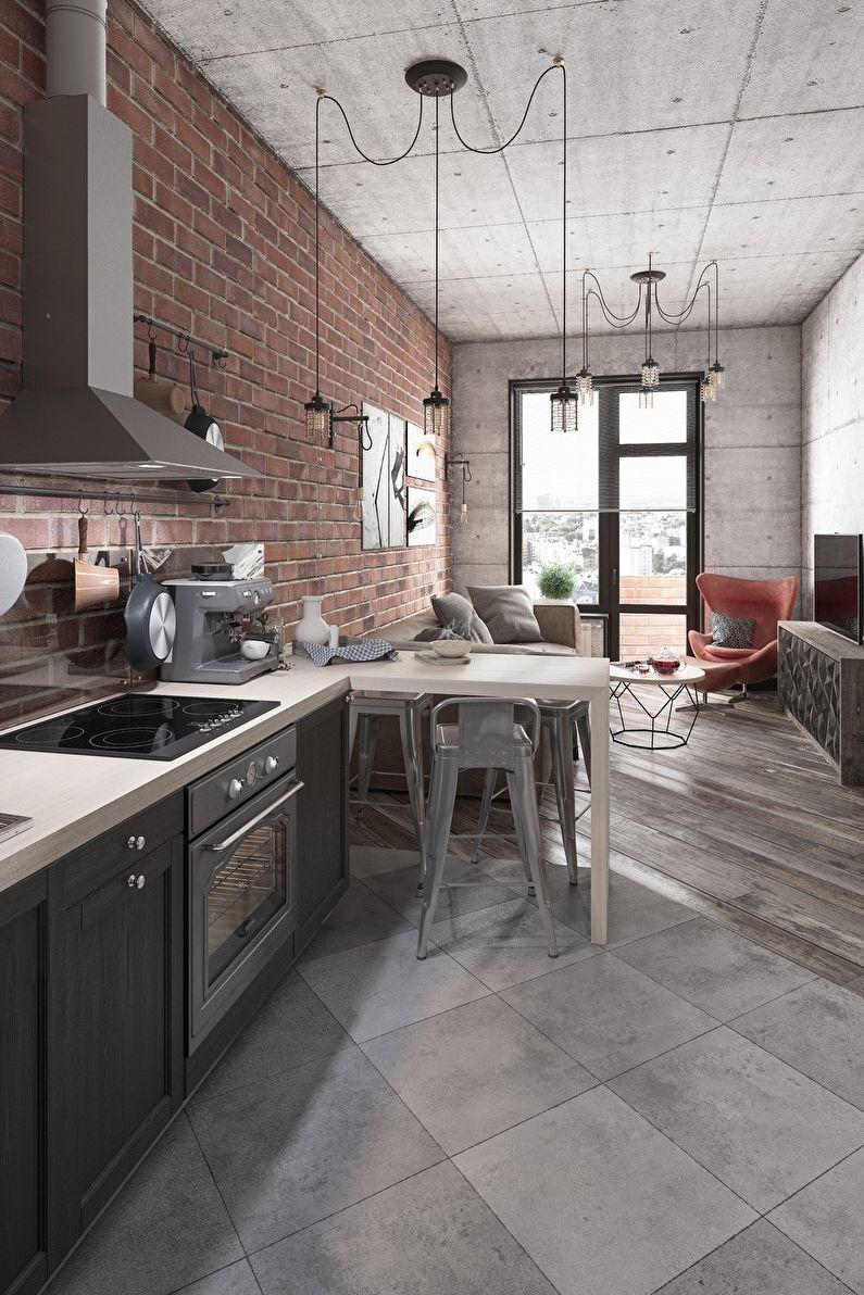 Дизайн кухни 20 кв.м. - Отделка пола