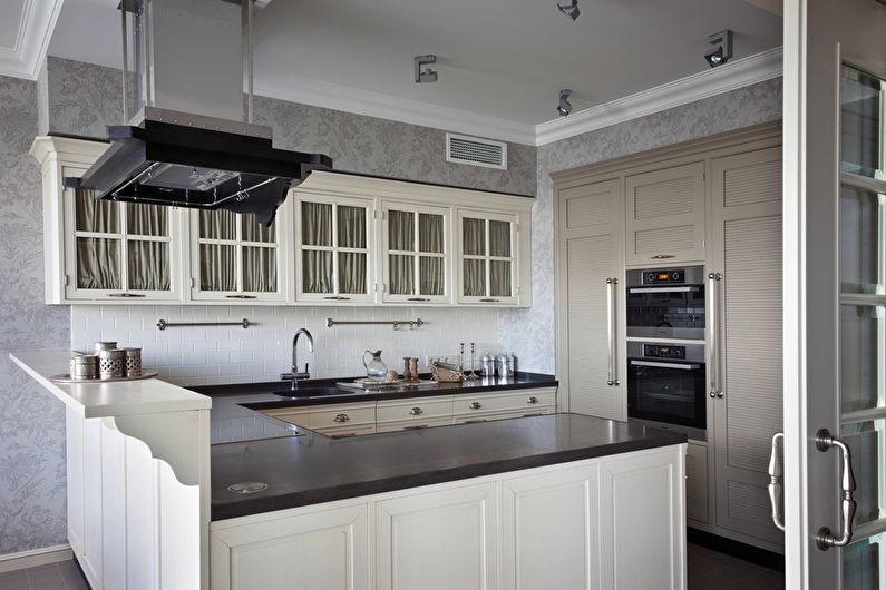 Дизайн кухни 20 кв.м. - Отделка стен