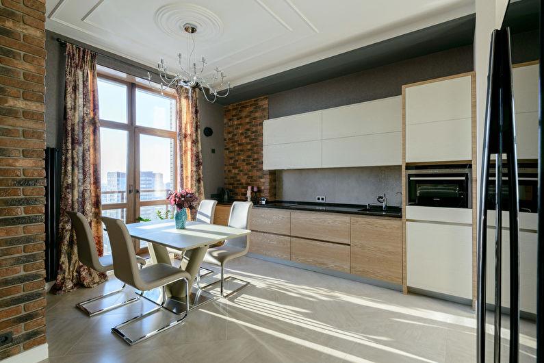 Дизайн кухни 20 кв.м. - Отделка потолка