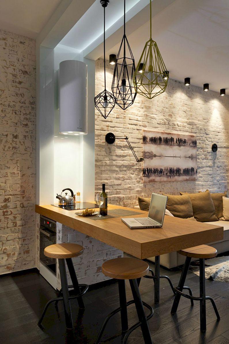 Дизайн кухни 20 кв.м. - Освещение и подсветка