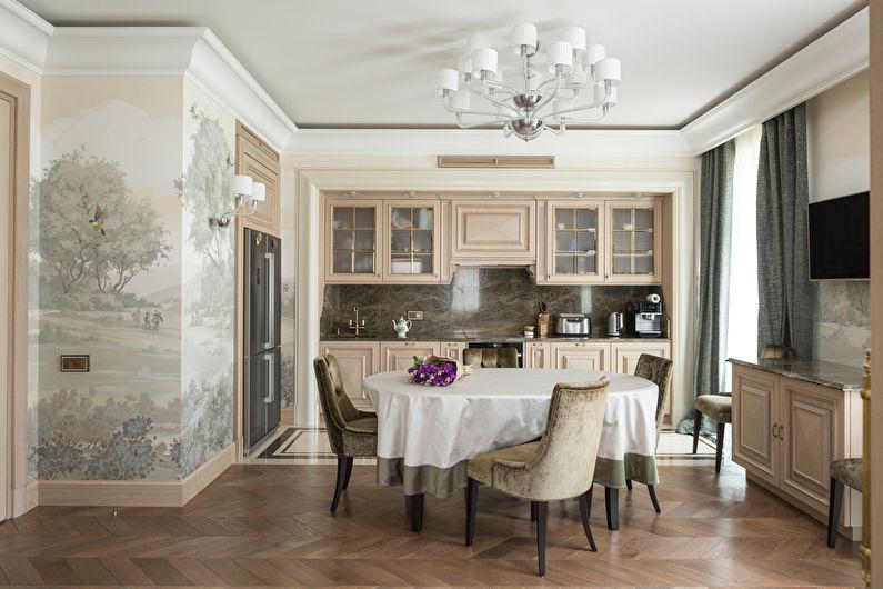 Дизайн интерьера кухни 20 кв.м. - фото